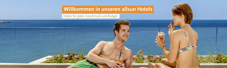 Willkommen in unseren allsun Hotels